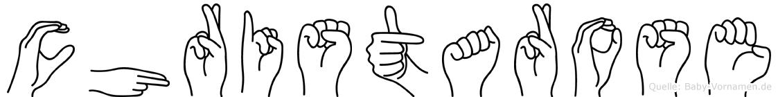 Christarose in Fingersprache für Gehörlose