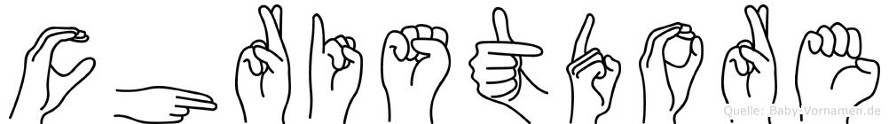 Christdore in Fingersprache für Gehörlose