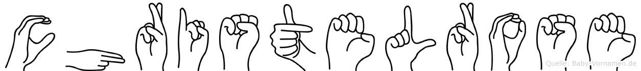 Christelrose im Fingeralphabet der Deutschen Gebärdensprache