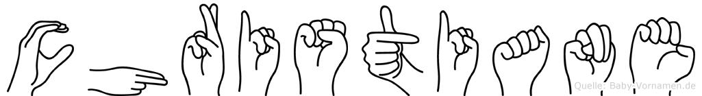 Christiane in Fingersprache für Gehörlose