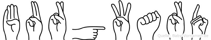 Burgward im Fingeralphabet der Deutschen Gebärdensprache