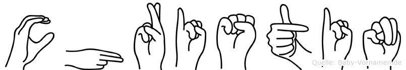 Christin in Fingersprache für Gehörlose