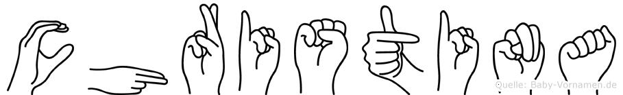 Christina in Fingersprache für Gehörlose