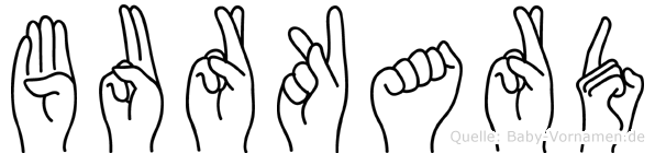 Burkard im Fingeralphabet der Deutschen Gebärdensprache