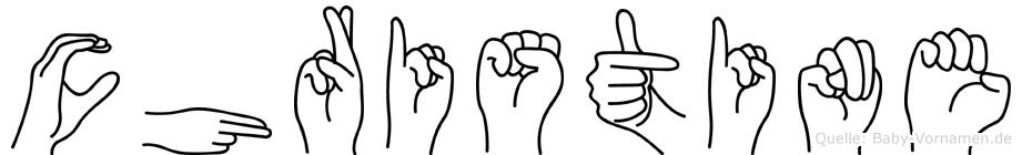 Christine in Fingersprache für Gehörlose