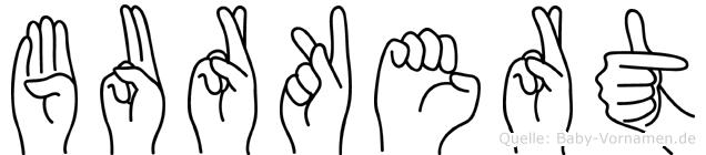 Burkert im Fingeralphabet der Deutschen Gebärdensprache
