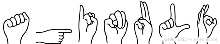 Aginulf im Fingeralphabet der Deutschen Gebärdensprache