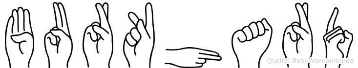 Burkhard in Fingersprache für Gehörlose