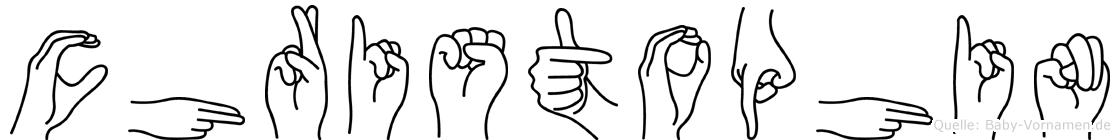 Christophin in Fingersprache für Gehörlose
