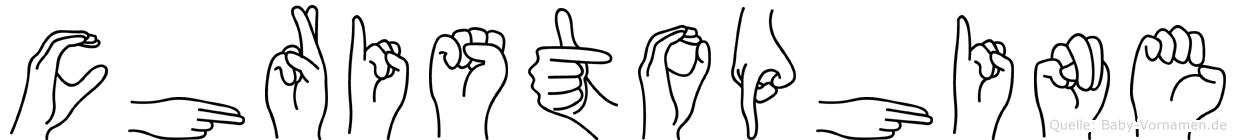 Christophine in Fingersprache für Gehörlose