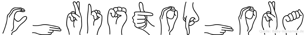 Christophora in Fingersprache für Gehörlose