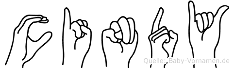 Cindy in Fingersprache für Gehörlose