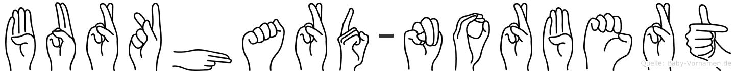 Burkhard-Norbert im Fingeralphabet der Deutschen Gebärdensprache