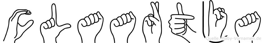 Claartja in Fingersprache für Gehörlose