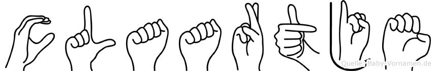 Claartje im Fingeralphabet der Deutschen Gebärdensprache