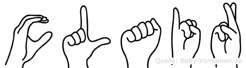 Clair in Fingersprache für Gehörlose