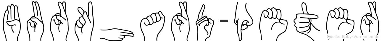 Burkhard-Peter im Fingeralphabet der Deutschen Gebärdensprache