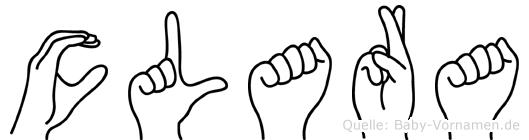 Clara in Fingersprache für Gehörlose