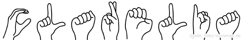Clarelia in Fingersprache für Gehörlose