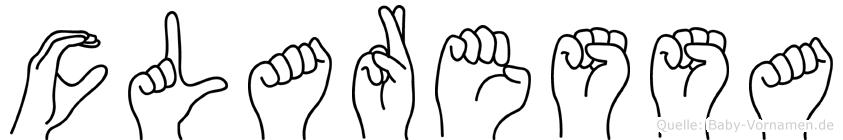 Claressa im Fingeralphabet der Deutschen Gebärdensprache