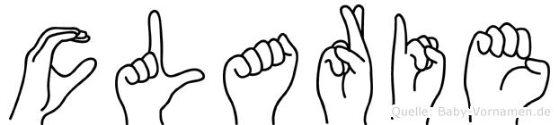Clarie in Fingersprache für Gehörlose