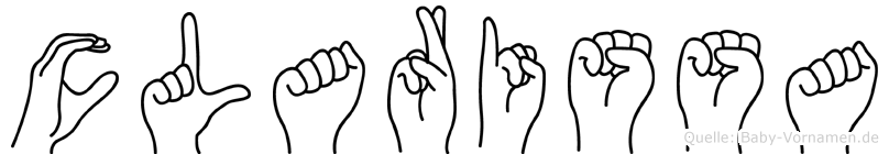 Clarissa im Fingeralphabet der Deutschen Gebärdensprache
