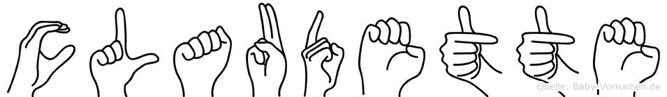 Claudette im Fingeralphabet der Deutschen Gebärdensprache