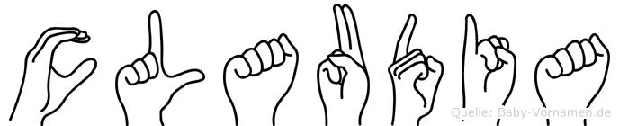 Claudia in Fingersprache für Gehörlose