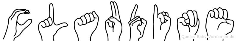 Claudine im Fingeralphabet der Deutschen Gebärdensprache