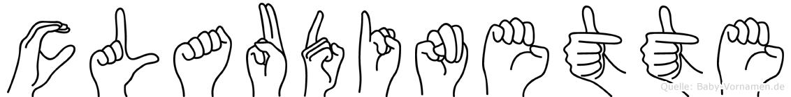 Claudinette in Fingersprache für Gehörlose