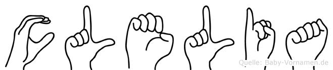 Clelia im Fingeralphabet der Deutschen Gebärdensprache