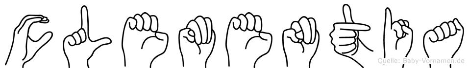 Clementia im Fingeralphabet der Deutschen Gebärdensprache