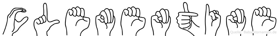 Clementine in Fingersprache für Gehörlose