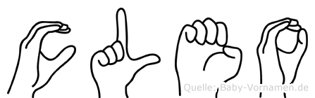Cleo im Fingeralphabet der Deutschen Gebärdensprache