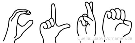 Cläre in Fingersprache für Gehörlose