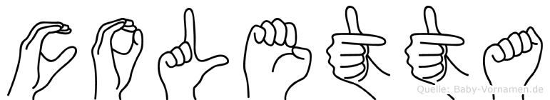 Coletta im Fingeralphabet der Deutschen Gebärdensprache