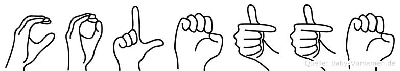 Colette im Fingeralphabet der Deutschen Gebärdensprache