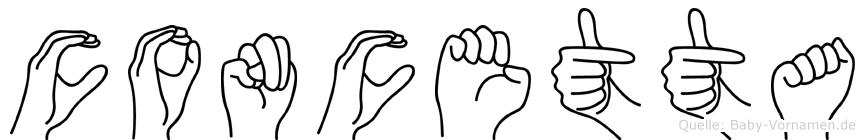 Concetta in Fingersprache für Gehörlose