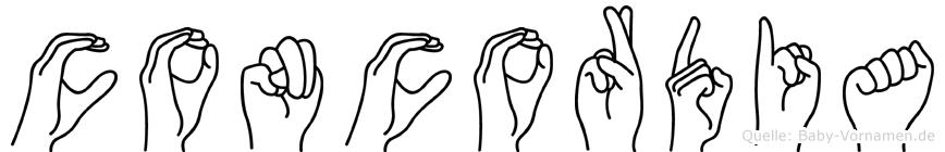 Concordia in Fingersprache für Gehörlose