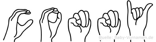 Conny im Fingeralphabet der Deutschen Gebärdensprache