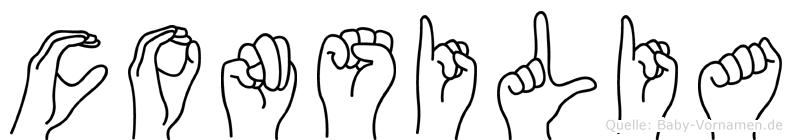Consilia im Fingeralphabet der Deutschen Gebärdensprache