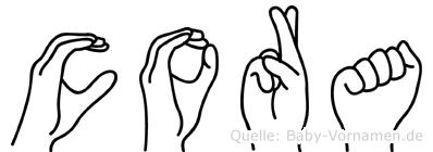 Cora in Fingersprache für Gehörlose