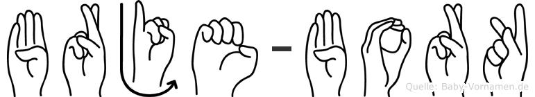 Börje-Bork im Fingeralphabet der Deutschen Gebärdensprache