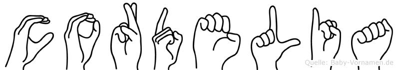 Cordelia in Fingersprache für Gehörlose