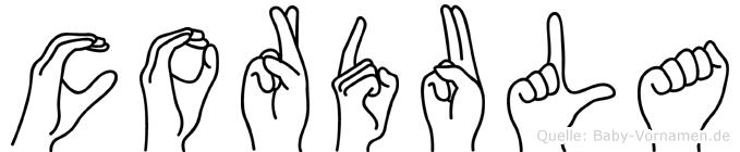 Cordula in Fingersprache für Gehörlose