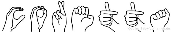 Coretta in Fingersprache für Gehörlose