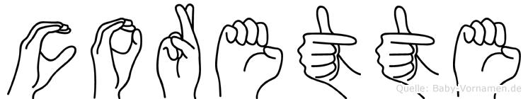 Corette in Fingersprache für Gehörlose