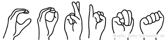 Corina im Fingeralphabet der Deutschen Gebärdensprache
