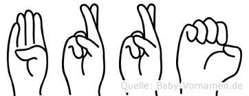 Börre in Fingersprache für Gehörlose