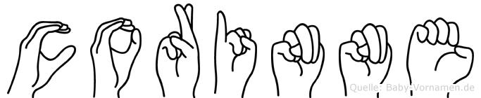 Corinne in Fingersprache für Gehörlose